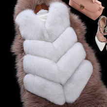 2016 Winter Fashion Fur Vest Genuine Leather 100% Real Fox Fur Vest Girls Short Style Slim Outwear Waistcoat M-XXL