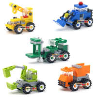 Early Learning Education Installed Plastic Engineering Vehicles 3d Puzzle Disassembly Cartoon Car Kids Toys for Children Toys