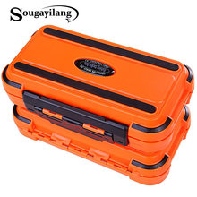Sougayilang – boîte de pêche, compartiment, 4 couleurs, crochet de leurre, matériel de pêche, boîte d'accessoires