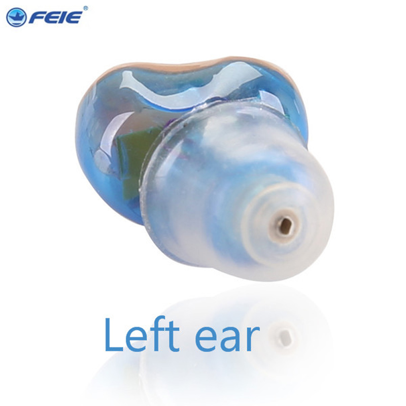 Free Shipping Headphones CIC programmable digital hearing aid devices for elderly hearing loss S-12A 4 channels