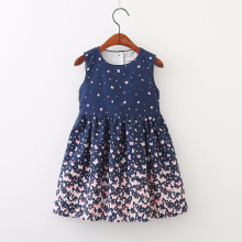 Kids Girls Clothing Sleeveless Dress Striped