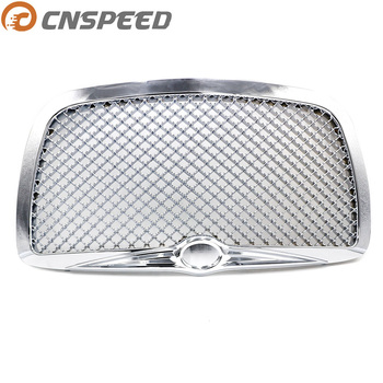 CNSPEED Auto Racing Car front Grills for 2004 2005-2010 Chrysler 300 300C Limited Touring Chrome Hood Grill Mesh Grille soccer-specific stadium