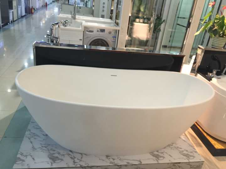 1800x850x630mm Solid Surface Stone CUPC Approval Bathtub Oval Freestanding Corian Matt Or Glossy Finishing Tub RS6569