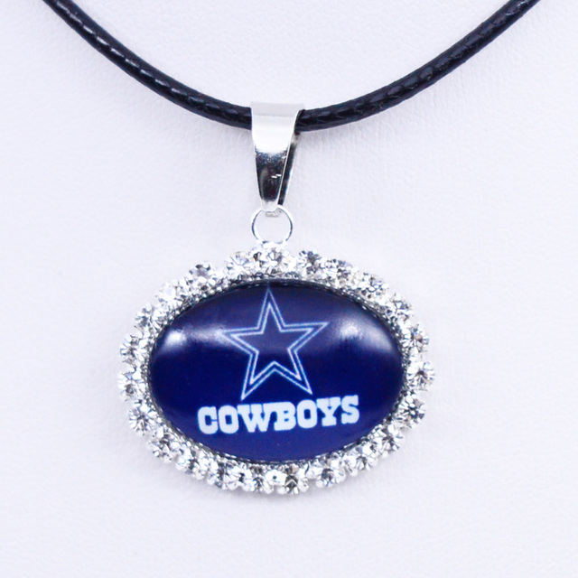 Necklace pendant dallas cowboys charm pendant football jewelry for necklace pendant dallas cowboys charm pendant football jewelry for women gifts party birthday wholesale aloadofball