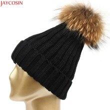989160b9c73d5 Jaycosin balaclava inverno Mulheres Lã Crochet Knit Beret Ski Beanie Bola  Cap Baggy gorro de Inverno Chapéu Morno mulheres rabo .