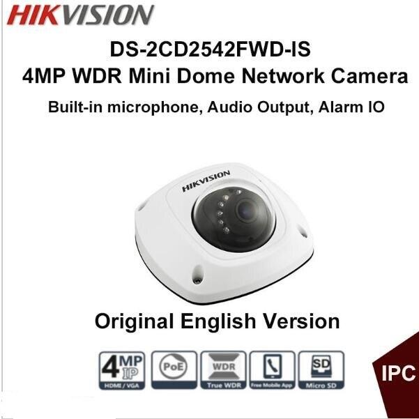 bilder für Echtes HIK 4MP POE ir mini dome ip-kamera eingebautes Mikrofon ds-2CD2542FWD-is ersetzen DS-2CD2532F-IS ds-2cd2535f-is 2cd2532f