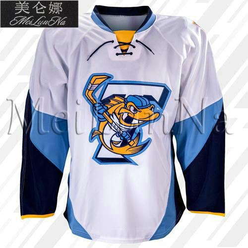 Customize ECHL 2017 Toledo Walleye Hockey Jersey Home White1