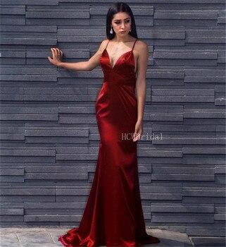 Vestidos De Noche Largos De Coral De Cuello Redondo Con Faja
