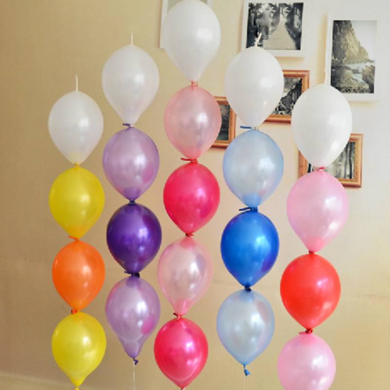 10pcs multicolor 10 inch tail latex balloons birthday for Balloon decoration for engagement party
