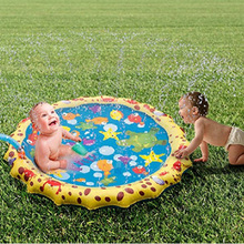170cm Summer Childrens Outdoor Play Water Games Beach Mat Lawn Inflatable Sprinkler Cushion Carpet Toys Gift Fun For Kids Baby