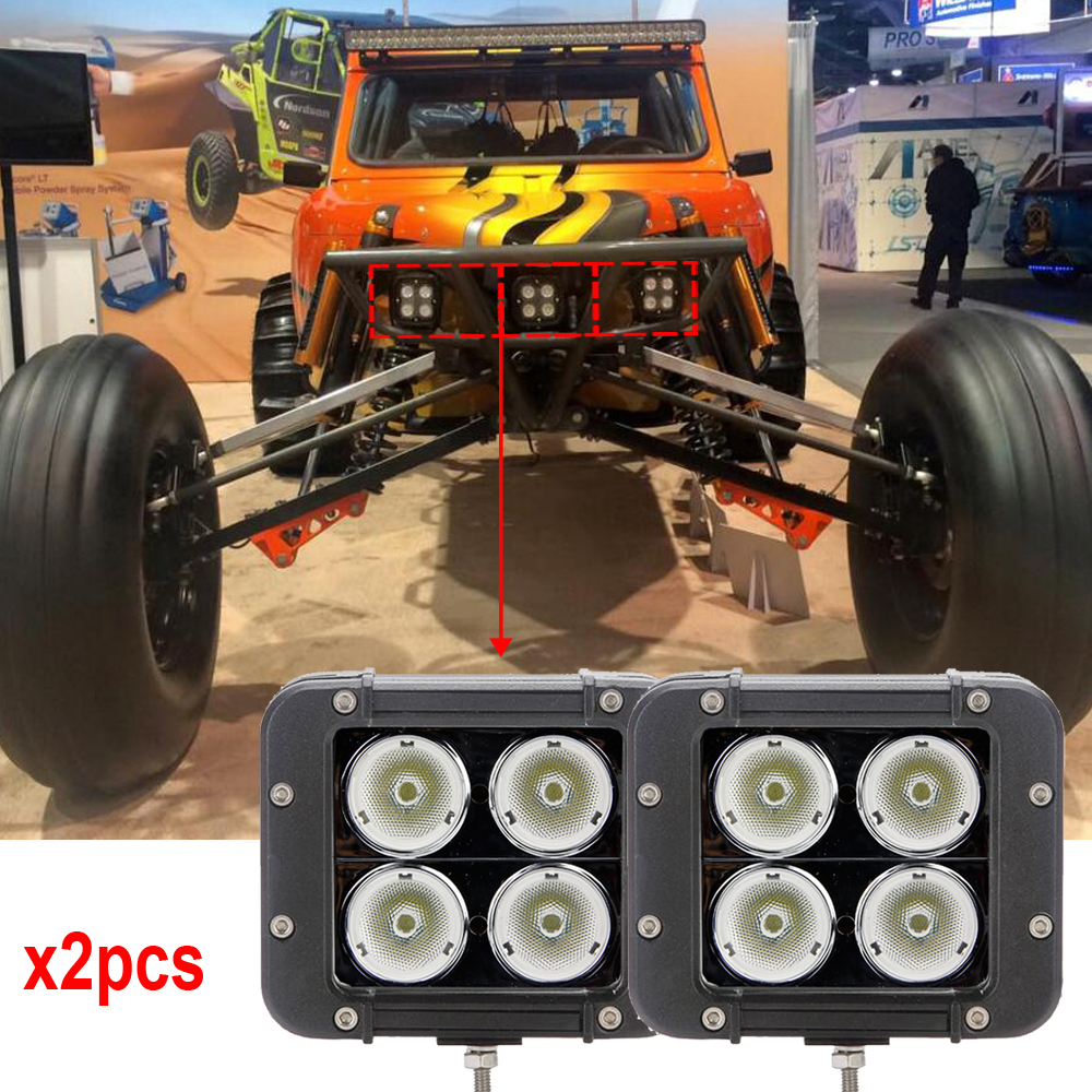 Super Brightest LED Light Bar 40W Off road work driving lights Narrow pencil Flood Beam with
