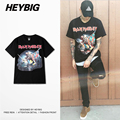 England Street Tide Men t-shirt Rock n roll Band style European fashion HEYBIG Hip hop 100% cotton tops Chinese SIZE tee shirts