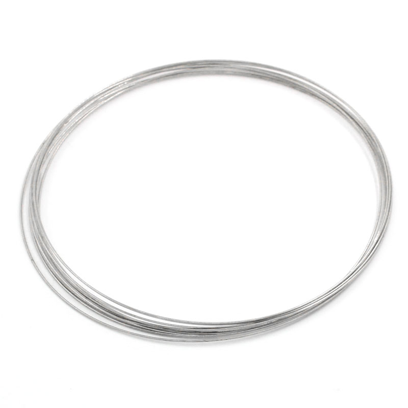 MJARTORIA Charming 100 High Quality Loops Memory Wire Necklace Craft Findings 115mm Dia. DIY Accessories For Women Men Necklaces