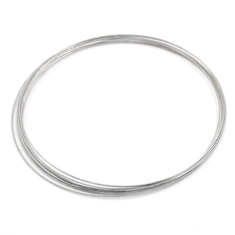 Schmuck & Zubehör Doreenbeads 100 Loops Speicher Schmuckdraht Für Halskette 140mm Armreifen