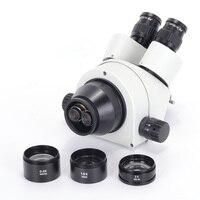 1PCS0. 5X WD165 1.5X WD45 2X WD30 SZM pomocnicze obiektyw Zoom mikroskop stereo nici 48mm lornetka mikroskop Trinocular w Mikroskopy od Narzędzia na