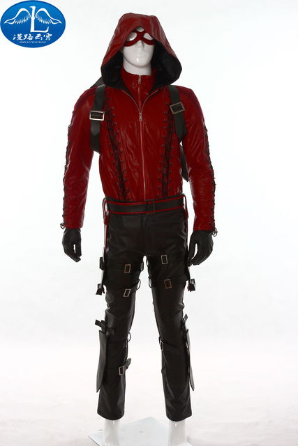 Green Arrow Season 3 Roy Harper Red Cosplay Costumes Halloween Clothing  Full set Free shipping