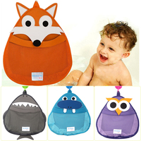 Cartoon Baby Bath Toy Storage Bags Kids Shower Sundries Toys Tidy Organizer Net Mesh Bag Hanging