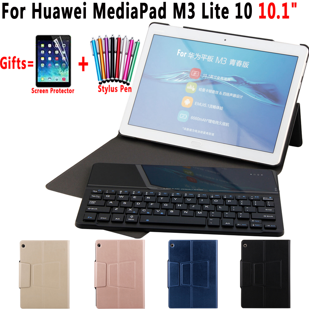 Wireless Removeable Glass Mirror Bluetooth Keyboard Shell Cover Case for Huawei Mediapad M3 Lite 10 10.1 inch Coque Capa Funda e reader case for onyx boox i63ml maxwell case cover coque shell funda hulle custodie