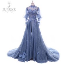 jueshe Jusere High Neck Long Sleeves Evening Dress 2018