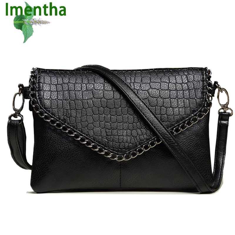 bdcc0ce00f44 ... Ежедневные клатчи женские сумки на плечо кожаная сумка черные кошельки  сумки через плечо для женщин конверт ...