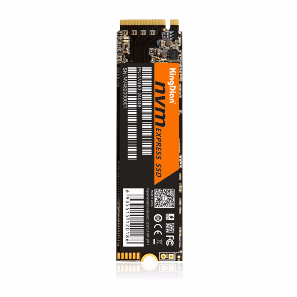 KingDian SSD M.2 22*80mm NGFF 120GB 240GB with High Quality PCIE NVME internal Solid State Drive Hard Disk For Desktop