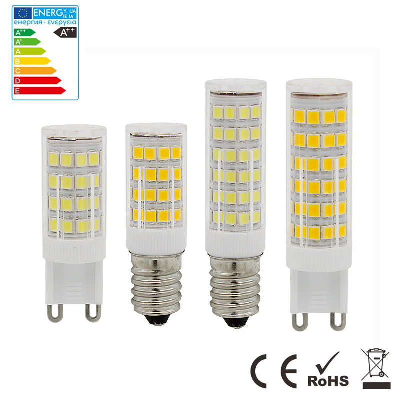 6Pcs Mini E14 G9 LED Lamp 10W 15W 220V LED Light Corn Bulb SMD2835 Crystal Chandelier Pendant Refrigerator Light Replace Halogen mini e14 led refrigerator lights smd5050