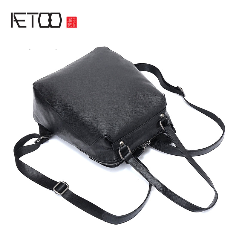 AETOO The first layer of leather ladies backpack 2017 new multi-functional soft leather backpack fashion travel backpack leather