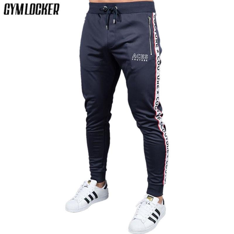 Mens Joggers Trousers Male Fitness Casual Fashion Brand Joggers Sweatpants Bottom Pants Men Fitness Bodybuilding Long Pants