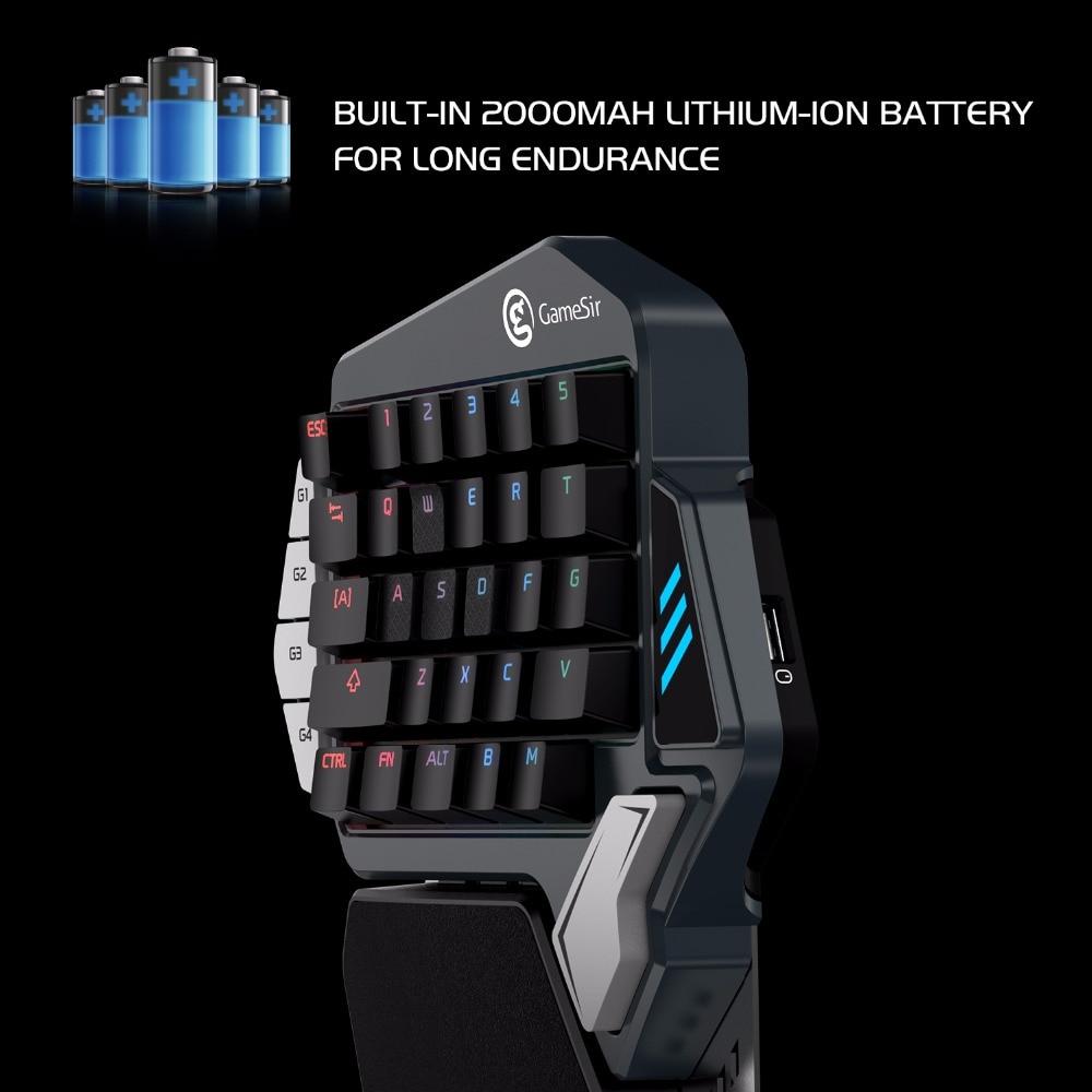 Gamesir z1 vermelho azul teclado mecânico do