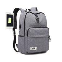AUGUR 2018 New Fashion Laptop Backpacks Teenagers School Bags Women Men'S USB Charging Anti Theft Backpack Big Travel Back Bag