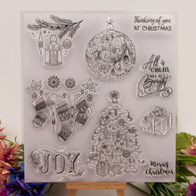 Merry Christmas Decoration Clear Stamps for Scrapbooking DIY Silicone Seals Photo Album Embossing Folder Paper Maker Template merry christmas trees sticker painting stencils for diy scrapbooking stamps home decor paper card template decoration album