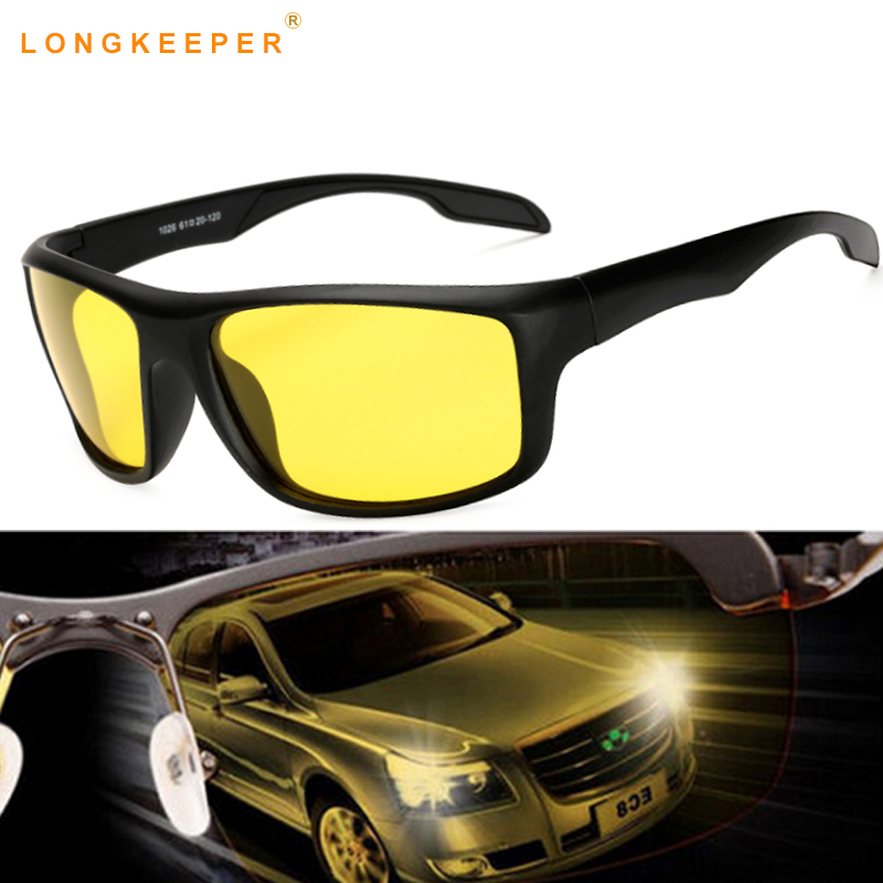 LongKeeper 2018 New Brand Sunglasses Polarized Men Brand Designer Night Driving Safety Night Vision Sun Glasses Gafas De Sol