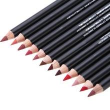 12pcs/lot Colorful Party Queen Lip Pencil Set Natural Long-lasting Waterproof eyeliner pen Makeup Cosmetic Kit