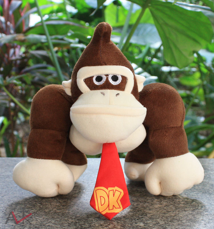 Super Mario King Kong Stuffed Plush Toys Donkey Kong With Tag Soft Doll For Children 1025cm Free Shipping 20cm super mario bros monkey donkey kong soft stuffed plush toys dolls kids gifts