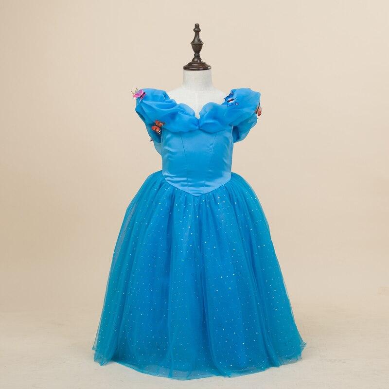 LSK 3-11T High Quality Butterfly Cinderella Dress Fancy Cartoon Cosplay Costume Girl Princess Dress Chirstmas Party Dress 2015 чайник luazon lsk 1703 white 1128695