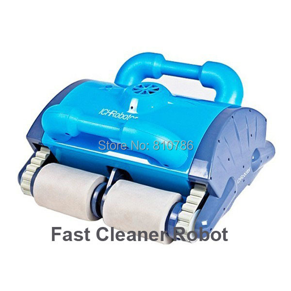 Robot Cleaner Swimming Pool With Spot Cleaning,Wall Climbing+Remote Controller+15m Cable+Area:100-200m2