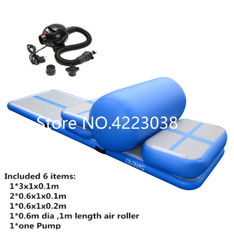 Free Shipping A Set Include 6 Pieces Color Inflatable Tumbling Air Track for Home Use Cheerleading