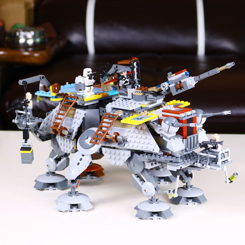 05032 Star Wars Rex's AT-TE Model building kits compatible with city 3D blocks Educational toys hobbies for children конструктор lepin star wnrs шагающий вездеход at te капитана рекса 1022 дет 05032