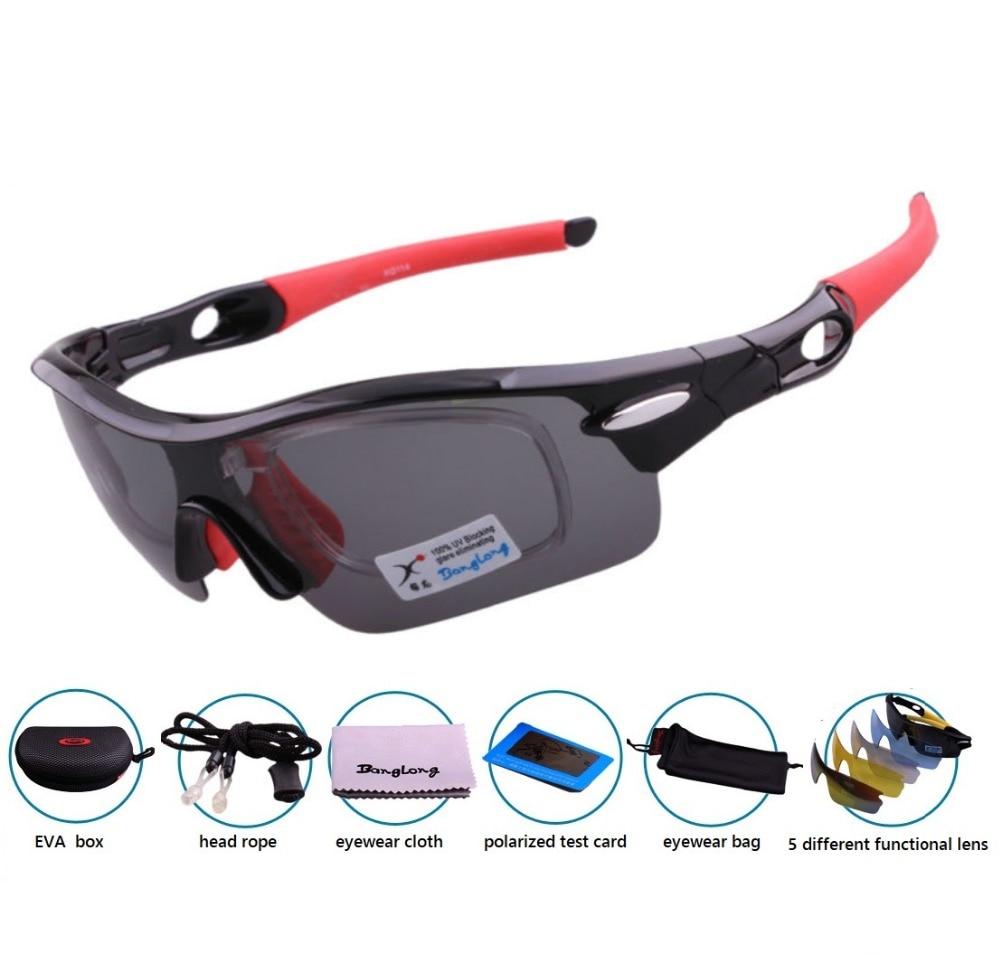 2019 משלוח חינם UV400 עדשה ראשית מקוטבת חיצוני ספורט רכיבה על אופניים גברים ונשים משקפי שמש לשני המינים עם 5 עדשות משקפי שמש