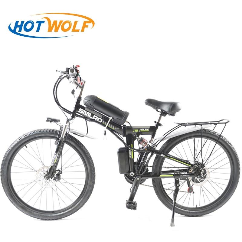 26 дюймов Электрический велосипед 48 В в 10.8ah литиевая батарея электрический горный велосипед 350 Вт мотор складываемый электровелосипед мощны...