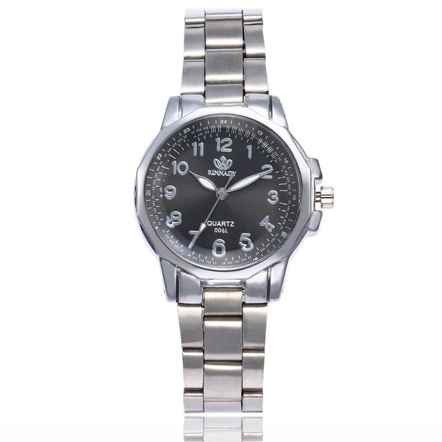 Relojes elegantes de lujo para mujer, de acero inoxidable, de cuarzo analógico