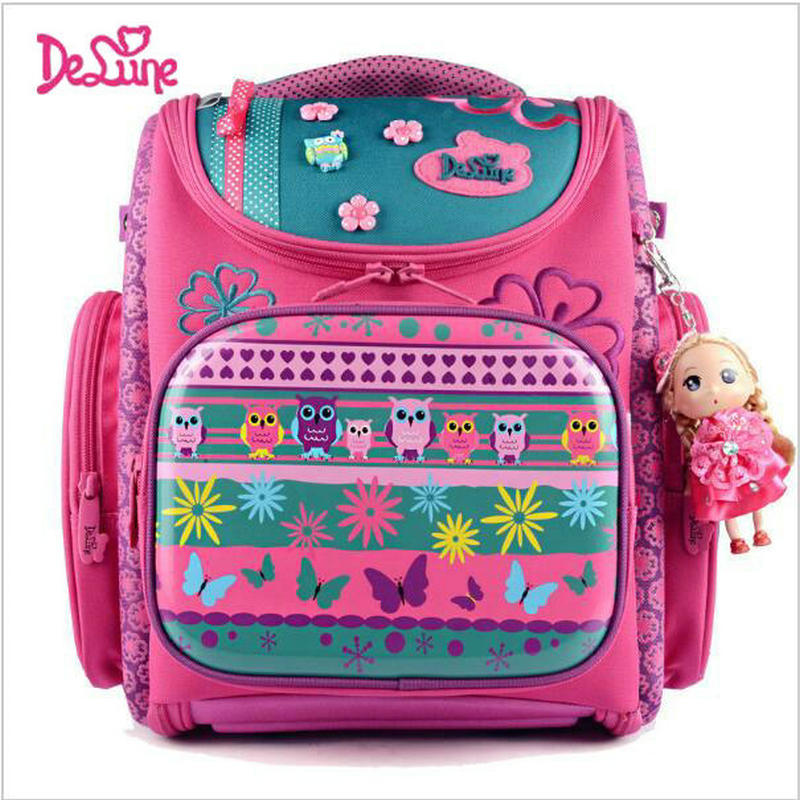 купить Delune Kids Backpacks Kindergarten School Bags for Girls Boys Waterproof Cartoon Children Mochila escolar infantil Schoolbag онлайн