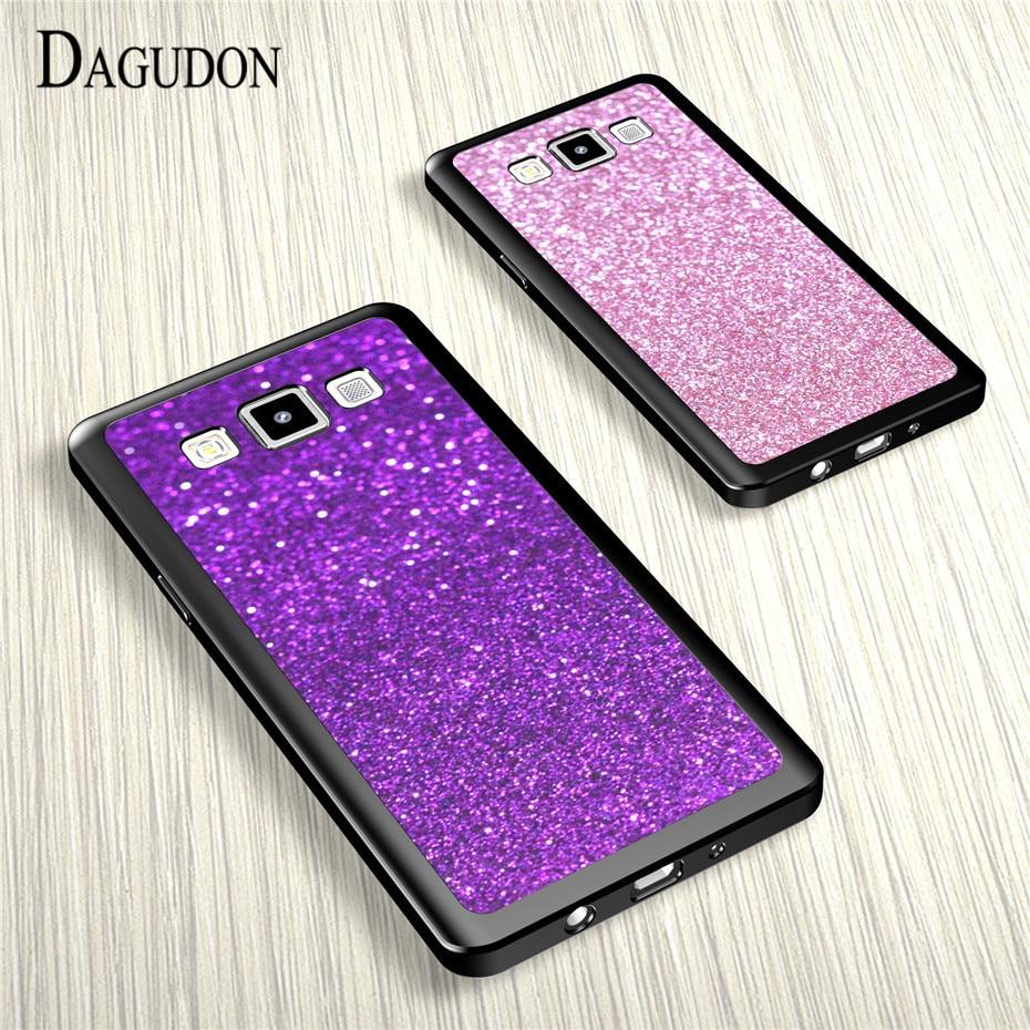 Galleria fotografica DAGUDON Soft Silicone Shiny Cases For Samsung A3 2015 Luxury glitter Back Cover case For Samsung Galaxy A3 Case Cover A300F Capa