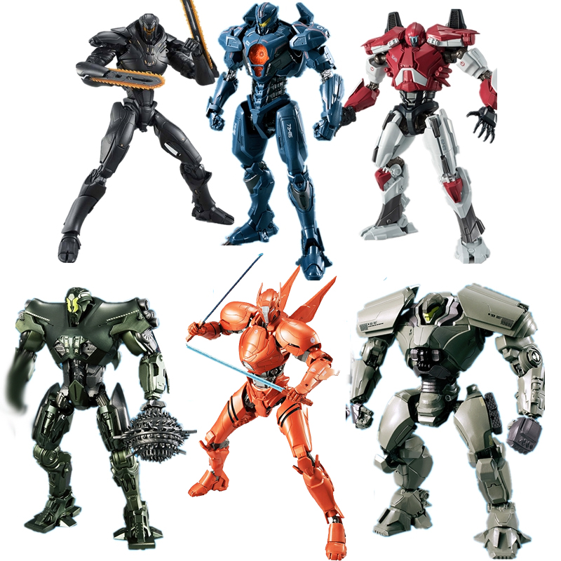 цена Pacific Rim Uprising Gipsy Avenger Saber Athena Titan Redeemer Bracer Phoenix Guardian Bravo Obsidian Fury PVC Action Figure Toy