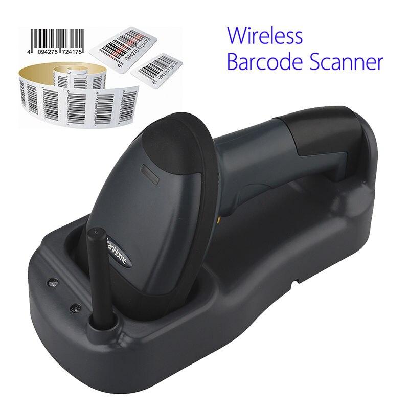 Scanhome 433 мГц Беспроводной сканера штриховых кодов Портативный ручной сканирования штрих-кодов w/База Бесплатная доставка