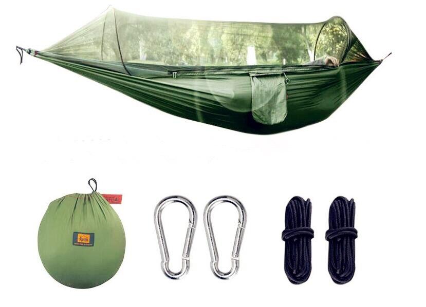 2018 nouvelle tente aérienne polyvalente d'oscillation de hamac anti-moustique extérieur forme rapide de Tunnel ouvert combiné tentes de camping