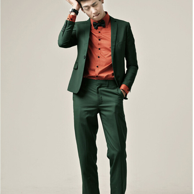 Slim Fit 2017 mens wedding suits Tuxedos costume homme Custom Green ...