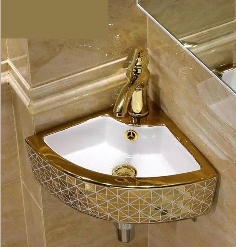 Europe Style Chinese Washbasin Sink Jingdezhen Art Counter Top Ceramic Bathroom Sink Dining Room Gold Mosaic Ceramic Wash Basin Wash Basin Washbasin Sinkceramic Bathroom Sinks Aliexpress
