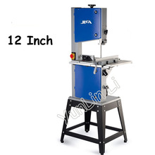 12 Inch Woodworking Band Saw Household Work Table Cutter Solid Wood Woodworking Machinery Wire Saw 750W MJ12
