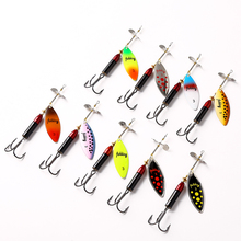 1PC 3# Metal Hard Spinner Bait Spoon Fishing Lures Wobblers For Trolling Long Cast Crankbait Trout Bass Pesca Tackle